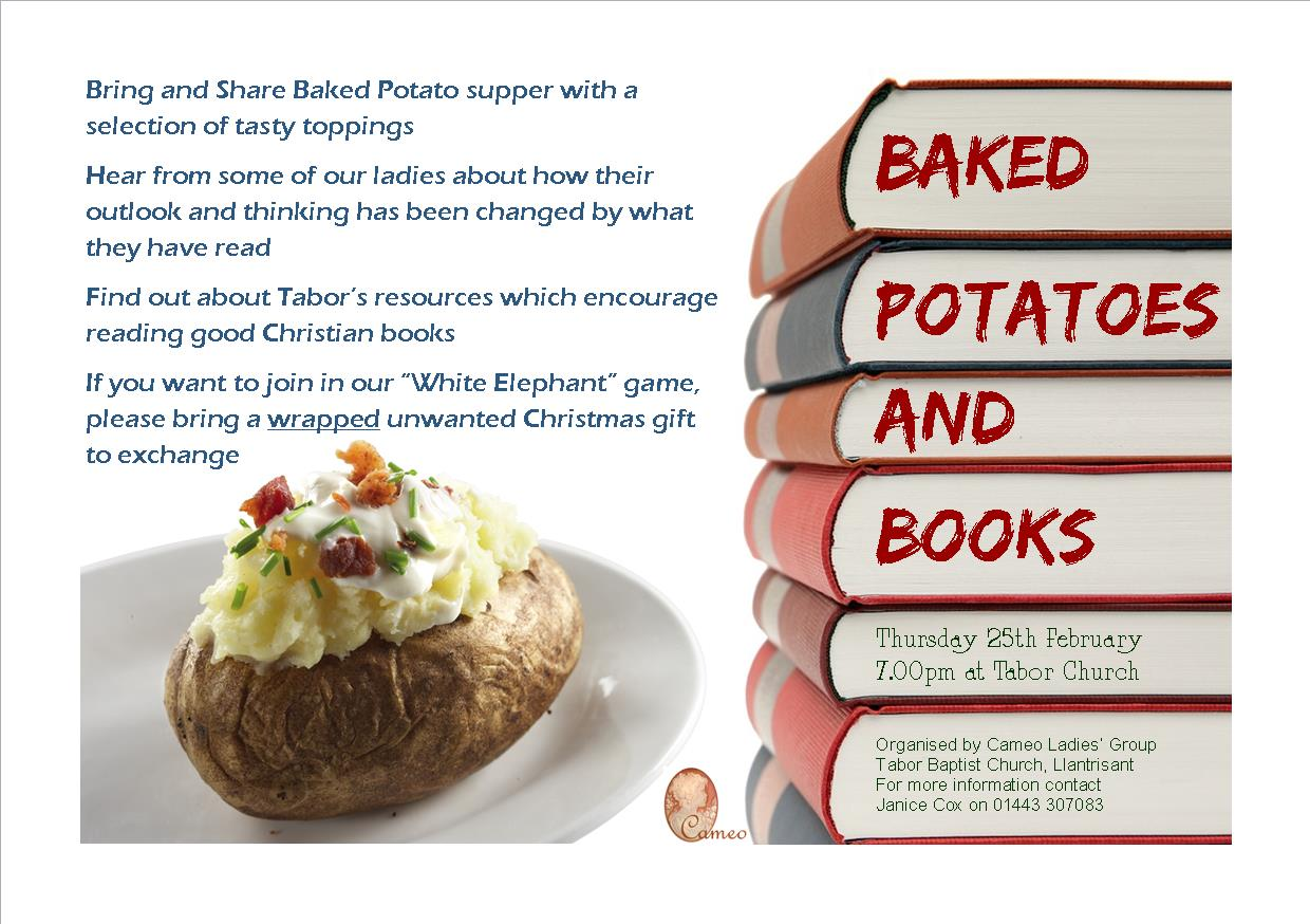 Baked Potato and Books Flyer